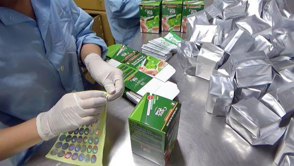 Hình ảnh sản xuất và phân phối Trà Thảo Mộc Giảm Béo Cung Đình