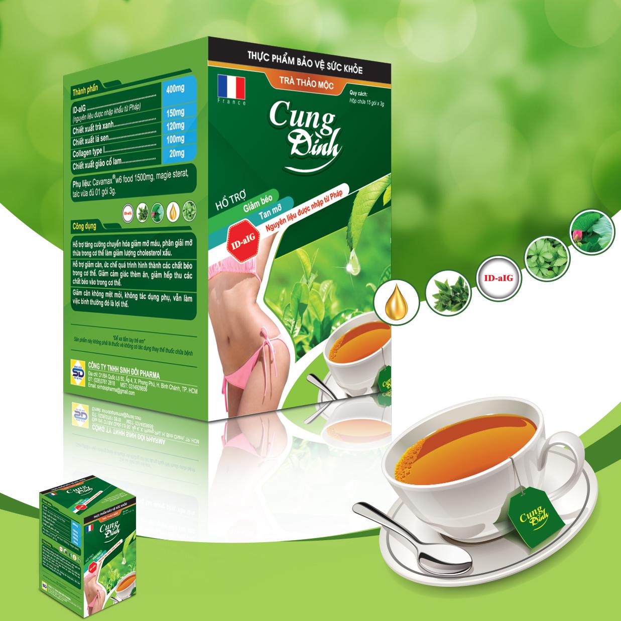 trà thảo mộc giảm cân cung đình