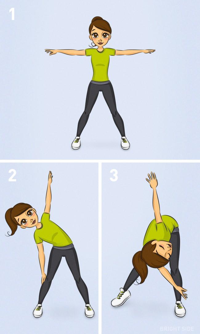 Bài tập kết hợp giúp giảm 3kg: Tư thế tam giác