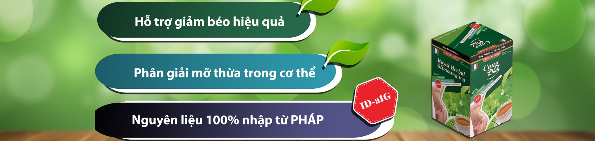 Banner Trà Giảm Cân Thảo Mộc Cung Đình